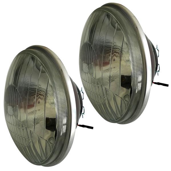 paire d u0026 39 optiques ronds avec veilleuse pour 2cv nouveau