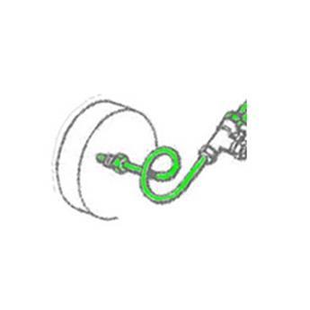 Tube de Frein Ø9 Té sur Boîte de vitesse -> cylindre de roue avant Droit