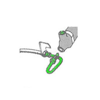 Tube de Frein Ø9 Maître-cylindre -> Flexible sur Boîte de vitesse (CF01-402)