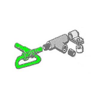 Tube de Frein Ø8 Té sur Boîte de vitesse -> Cylindre de roue avant Droit