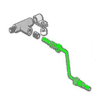 Tube de Frein Ø8 Té sur Boîte de vitesse -> Cylindre de roue avant Gauche (CF 01-410)