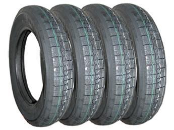 Lot 4 pneus 125/15