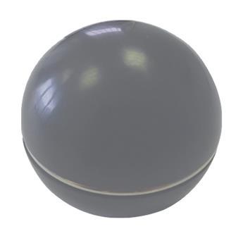 Pommeau gris cerclage chromé