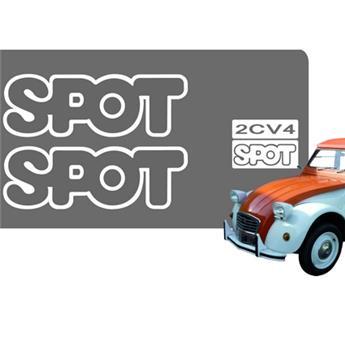 Ensemble adhésif pour 2CV Spot Blanc Brillant