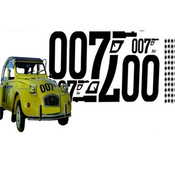 "Ensemble adhésif pour 2CV James Bond ""007"""
