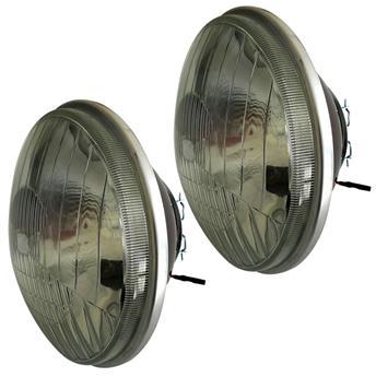 Paire d'optiques ronds avec veilleuse pour 2CV nouveau modèle - Code européen