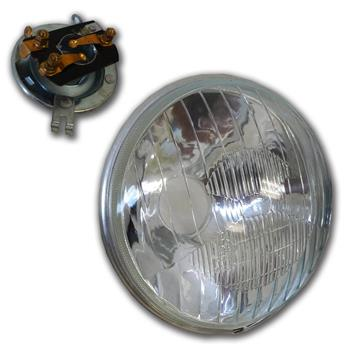 Optique rond pour 2CV ancien modèle sans veilleuse vendu avec support d'ampoule