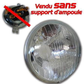 Optique rond pour 2CV ancien modèle sans veilleuse adaptable vendu sans support d'ampoule