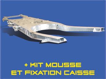 Plateforme Galvanisée homologuée + Kit mousse + Kit fixation caisse