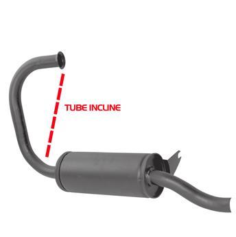 Silencieux primaire pour 2CV 1950  -> 11/1963 - Tube incliné