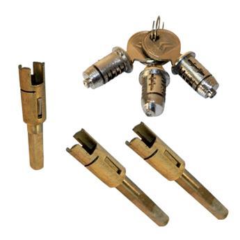 Ensemble barillets x3 2CV + broches de porte AV + broche de malle AR