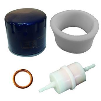 Ensemble de filtres huile et essence + mousse filtre air boîtier plastique