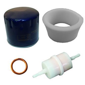 Ensemble de filtres huile et essence + mousse filtre air boîtier métal