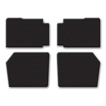 Lot de 4 panneaux de porte petit modèle Noirs