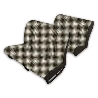 Lot garnitures (banquettes AV + AR) Tissu PIED DE POULE NOIR