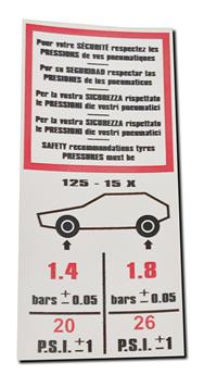 Adhésif Pression pneus 2CV complet