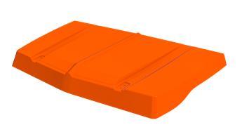 Capot Orange Kirchiz nouveau modèle pour Méhari