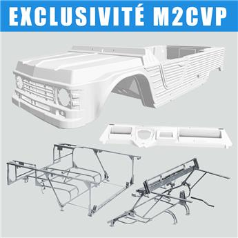 Kit carrosserie BLANC nouveau modèle avec tableau de bord ancien modèle Méhari + Châssis tubulaires AVANT + ARRIERE GALVANISES