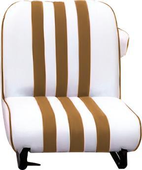 Garniture siège AVANT Skaï BLANC rayé MARRON Méhari