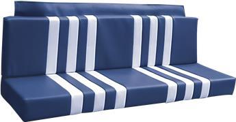 Garniture de Banquette ARRIERE BLEUE rayée BLANCHE pour Méhari