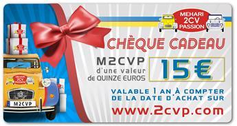 Chèque cadeau 15 euros