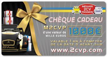 Chèque cadeau 1000 euros
