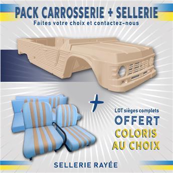 Kit carrosserie BEIGE HOGGAR nouveau modèle Méhari +SELLERIE RAYEE OFFERTE