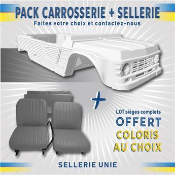 Kit carrosserie BLANC nouveau modèle pour Méhari + SELLERIE UNIE OFFERTE