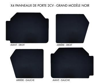 Lot de 4 panneaux de porte grand modèle Noirs