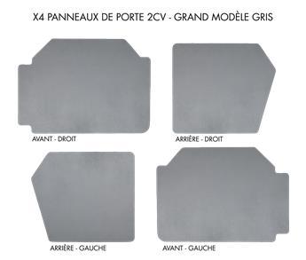 Lot de 4 panneaux de porte grand modèle Gris